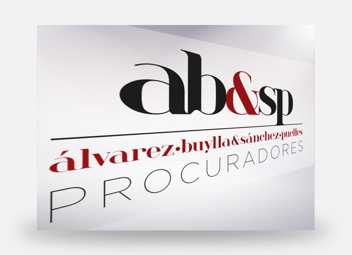 Logotipo de AB&SP diseñado por Com2gether