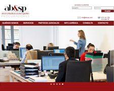Página web AB&SP Procuradores