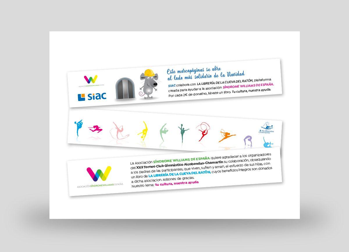 Marcapáginas solidarios ASWE diseñados por Com2gether