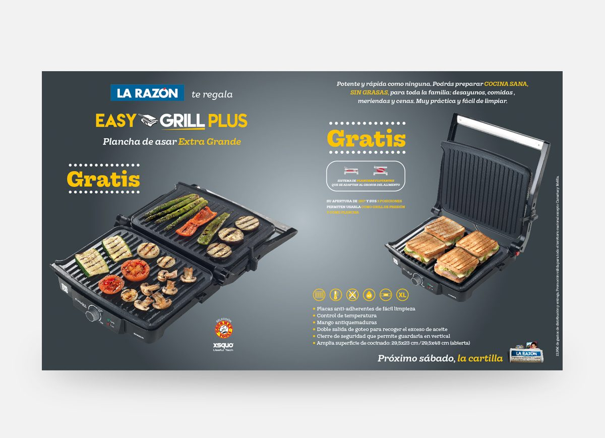 "La Razón ""Easy Grill Plus"" Com2gether"