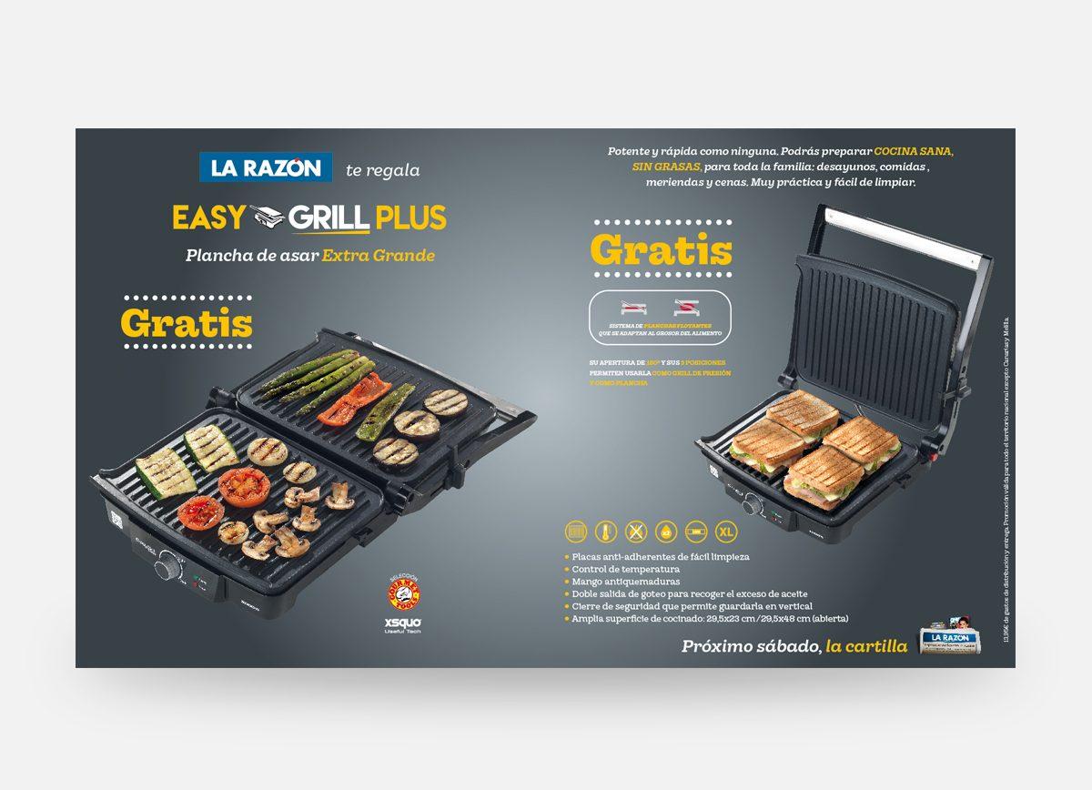 """La Razón """"Easy Grill Plus"""" Com2gether"""