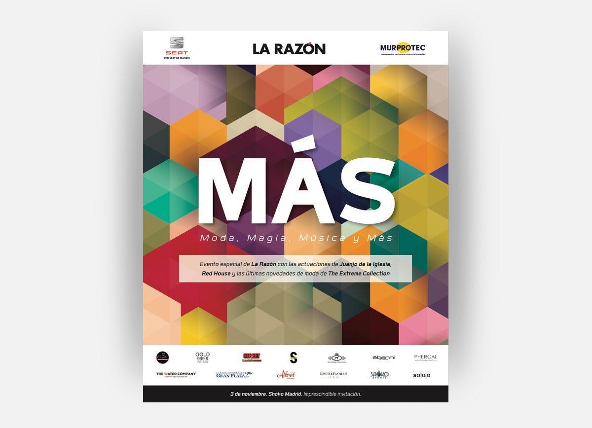 """Página La Razón evento """"MÁS"""" diseñada por Com2gether"""