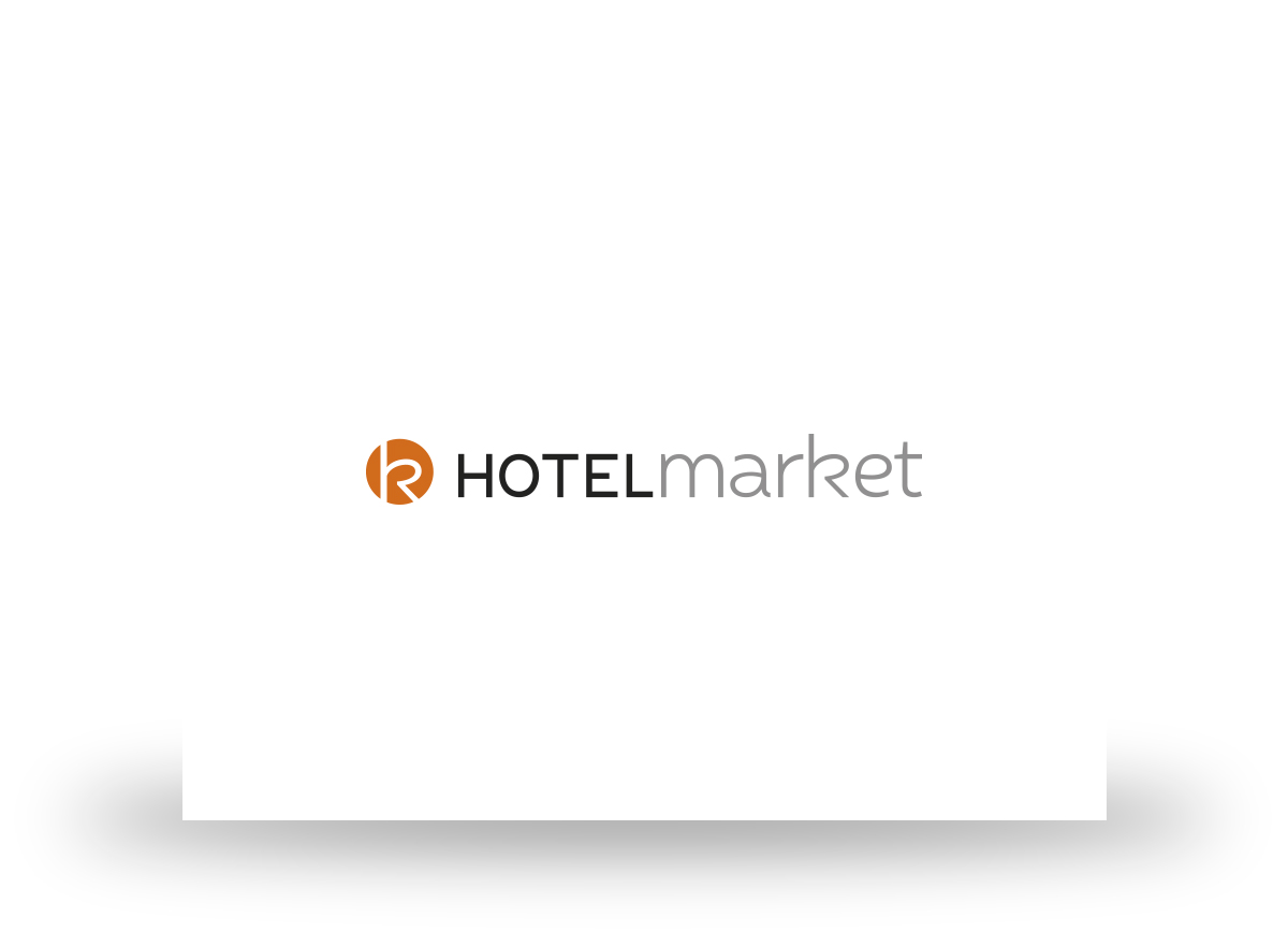 Logotipo de HotelMarket diseñado por Com2gether