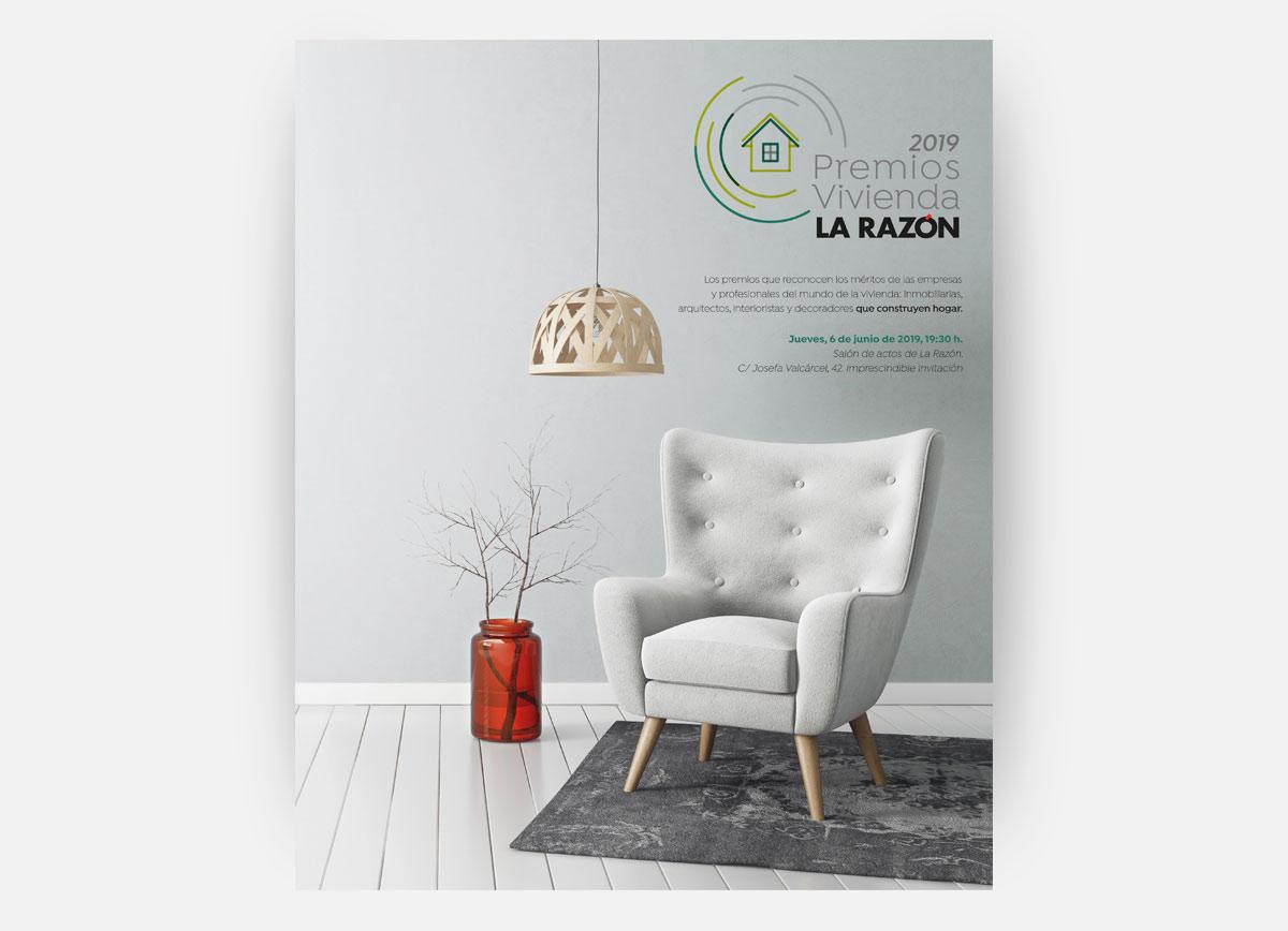 Página de los Premios Vivienda La Razón 2019 diseñada por Com2gether