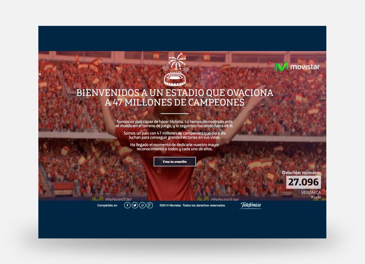 Microsite promocional de MoviStar en apoyo a la Selección Nacional de Fútbol en el Mundial de Fútbol de Brasil 2014.