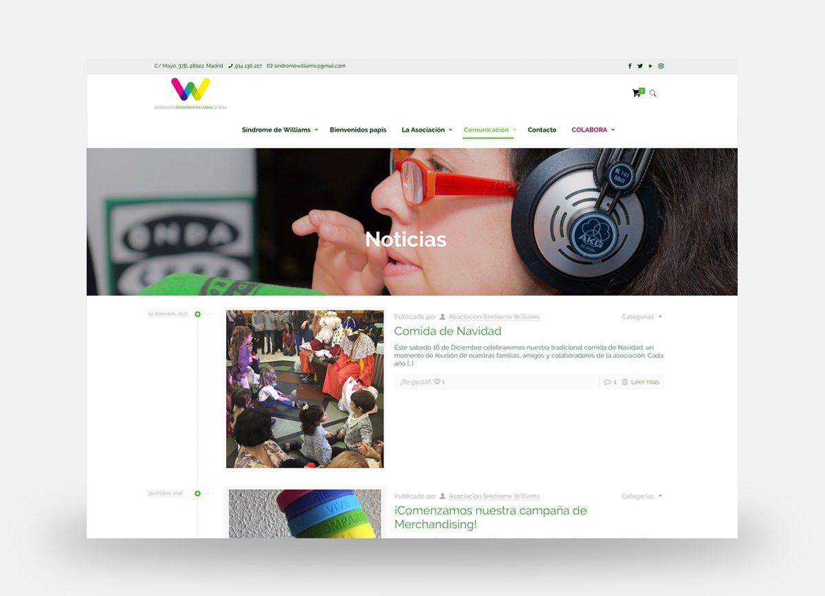 Página Web ASWE, sección Noticias