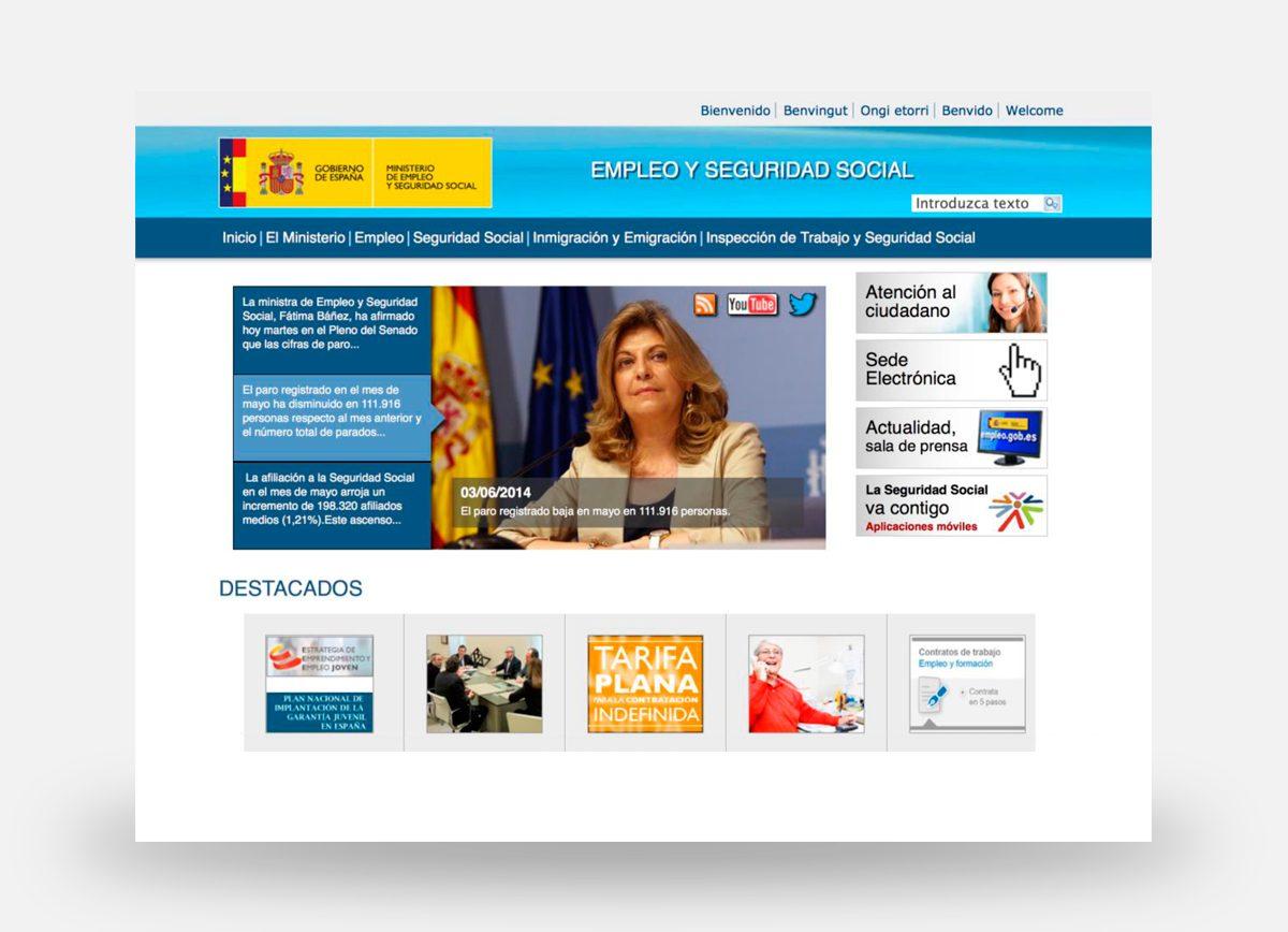 Página web de la Unidad Administradora del Fondo Social Europeo creada por Com2gether